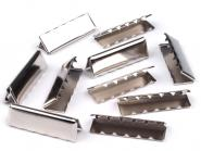 Endstücke aus Metall silber 30 mm