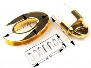 Taschenverschluss oval gold