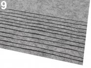 Filz 20 x 30cm 0,9 mm grau