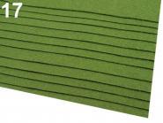 Filz 20 x 30cm 0,9 mm grün