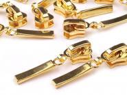 Zipper Profilreißverschluss 5mm gold