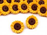 5 Knöpfe Sonnenblumen