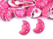 10 Knöpfe Mond pink