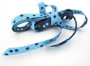 Punkteband, hellblau-marine