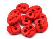 Kordelstopper zwei Loch rot