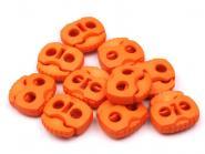 Kordelstopper zwei Loch orange