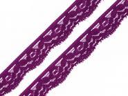 Spitze elastisch Breite 20 mm lila