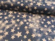 Jeansstoff Sterne dunkelblau