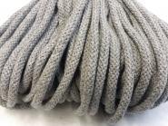 Baumwollkordel grau melange