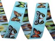 Schmetterling Webband türkis