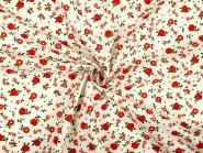 Blumenstoff rote Blüten