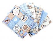 Stoffpaket Baby Teddy blau