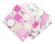 Stoffpaket Baby Teddy rosa