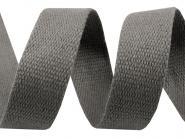 30 mm Baumwollgurtband grau