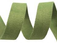 30 mm Baumwollgurtband grün
