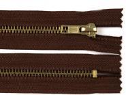 Jeansreißverschluss 10cm dunkelbraun