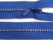 Glitzer-Reißverschluss 18cm royalblau