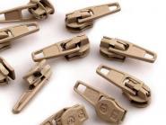 5 Zipper Reißverschluss Spitze dunkelbeige