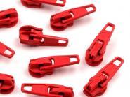 5 Zipper Reißverschluss Spitze rot