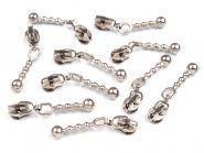 5 Zipper endlos Reißverschluss Spitze silber