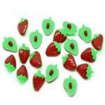 5 Knöpfe Erdbeeren