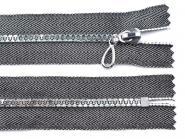 Reißverschluss silber 16cm