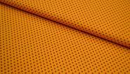 Baumwollstoff Punkte gelb-terracotta