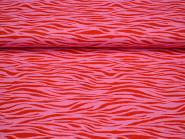 Baumwollstoff Wellen rot-pink