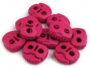 Kordelstopper zwei Loch pink