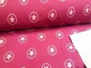 Softshell Sterne dunkelrot-rosa