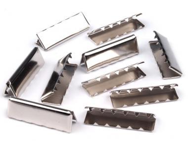 Endstücke aus Metall silber 40 mm