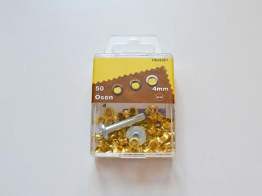 50 Ösen 4mm gold