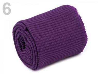 Bündchen umsäumt violett