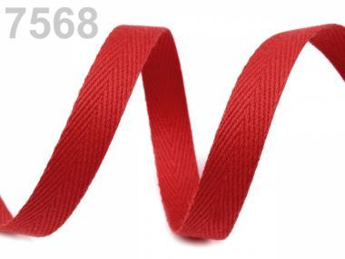 Köperband 10mm rot