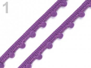 Pomponborte 7mm violett