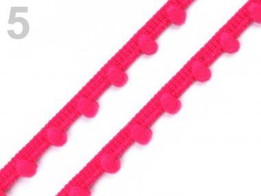 Pomponborte 7mm pink