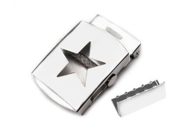 Gürtelschnalle mit Stern 30mm