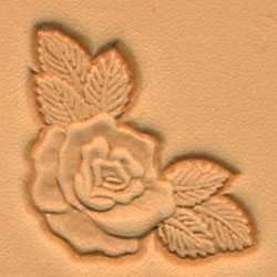 3-D Stempelplatte Rosenblatt