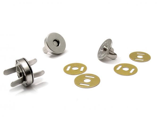 Magnet Verschluss Ø15mm silber