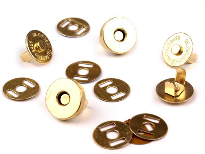 Magnet Verschluss Ø15mm gold