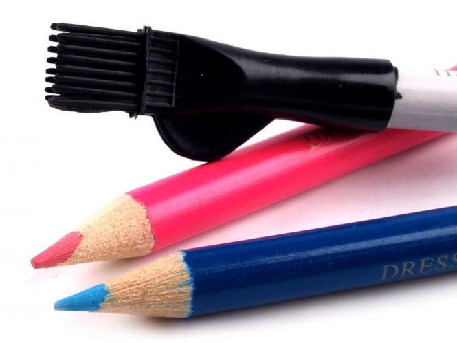 3 Stifte Schneiderkreide mit Bürste