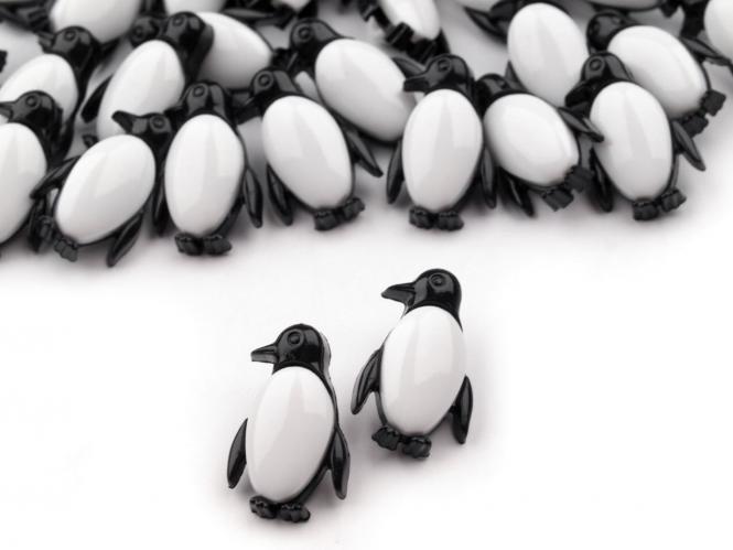10 Knöpfe Pinguine