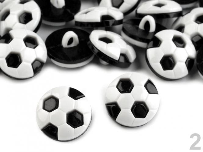 10 Knöpfe Fußball schwarz