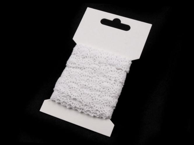 3m Klöppelspitze 12mm weiß