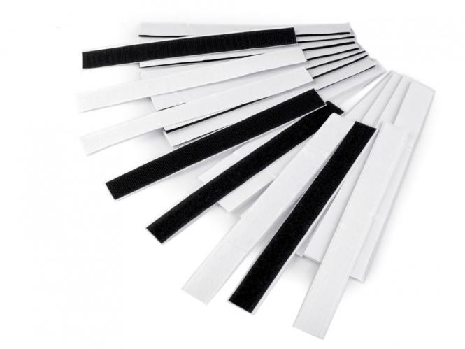 Klettbandmix selbstklebend schwarz