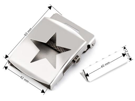 Gürtelschnalle Stern 40 mm