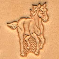 3-D Stempelplatte Rennpferd