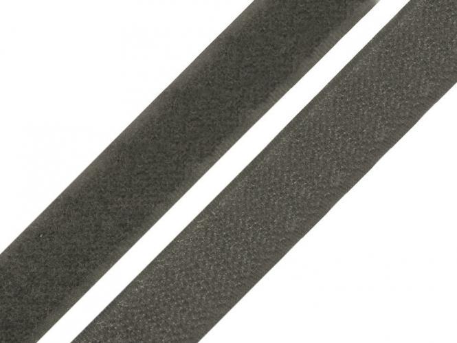Klettband dunkelgrau
