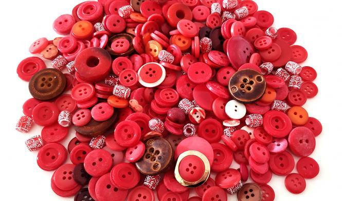 Knöpfe Mix rot