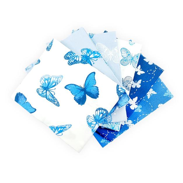 Stoffpaket Denim Schmetterling